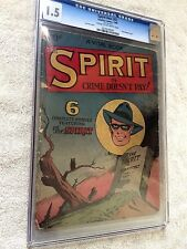 SPIRIT #NN (#2) 1945 CGC 1.5 Lou Fine cover, Crime Doesn't Pay