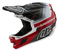 Troy Lee Designs D4 Carbon Mips Mirage SRAM Helmet Black/Red BMX/MTB/Bicycle