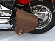 Brown Leather Swingarm Single Pannier Saddle Bag Harley Davidson Softail