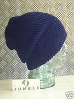 Navy Blue Knitted Beanie Hat / Watch Cap / Woolly Hat - One size - NEW
