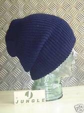 Bleu Marine Bonnet Tricot / / Chapeau En Laine - Taille unique - NEUF x 10