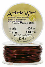Brown Artistic Craft Wire 24 Feet 7.31 Meters Jewelry Beading Crafts 22 Gauge