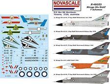 RAAF Mirage IIIo - 7 Schemes Decals 1/48 Scale N48053