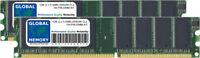 1gb (2x 512mb) DDR 266mhz PC2100 184 pines memoria DIMM RAM Kit Para PowerMac G4