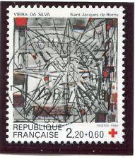 TIMBRE FRANCE OBLITERE N° 2449 VITRAIL VIEIRA DA SILVA / Photo non contractuelle
