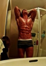 Shirtless Flexing Abs Arm Pits Muscular Male Body Builder Tanned PHOTO 4X6 N127