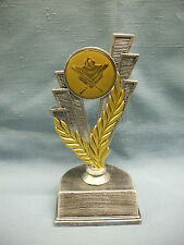 Baseball Theme trophy pewter color finish gold metal insert personalized