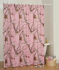 REALTREE AP PINK CAMOUFLAGE SHOWER CURTAIN - CAMO BATH ACCESSORIES