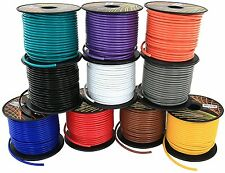 16GA GAUGE 100 FT SPOOLS REMOTE POWER GROUND WIRE CABLE PRIMARY AUTO 10 Pack