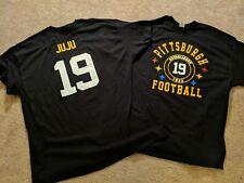 Pittsburgh Steelers JuJu Smith-Schuster #19  Logo Black T-Shirt Men's Front/Back