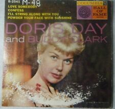 "Doris Day & Buddy Clark Love Somebody 45 7"" Record Columbia Hall Of Fame Series"