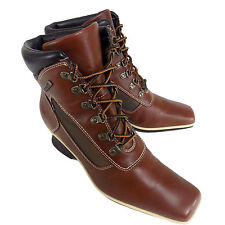 TIMBERLAND Boots Womens 7 1/2 M Brown Wedge Ankle Shoes 7.5