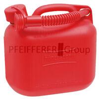 Kraftstoffkanister (UN) 5 Liter HD-PE mit Auslaufrohr rot Benzinkanister