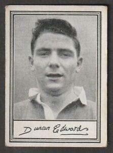 BARRATT confectionary Manchester United ENGLAND Duncan Edwards A3 series 1955