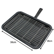 Premium Single Handle Enamelled Grill Pan & Rack for BAUKNECHT Oven Cooker