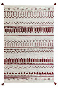 HAND MADE RED BENI cotton durrie rug from oriental weavers 120 x 170 cm