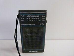 1986 Panasonic Model RF-502 Portable Pocket Radio AM/FM 9VBattery Operated