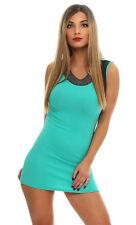 5674 ärmelloses Minikleid im eleganten Etui-Stil Kleid in 5 Farben