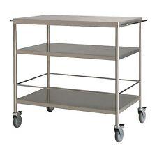 Kitchen trolley FLYTTA Stainless steel -98x57 cm