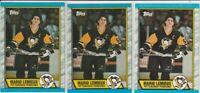 Mario Lemieux Pittsburgh Penguins 1989-90 Topps Hockey 3 Card Lot