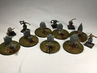28mm Zombies - Set of 12 Zombies - Painted and based with gravestones new