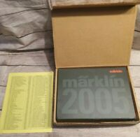 MARKLIN 2005 Presentation Book Set HO Gauge 1 and Z Gauge w/ CD & Bonus Cat.