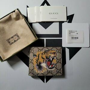 Gucci Tiger Print GG Supreme Wallet Brand New Authentic Guaranteed