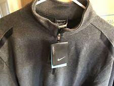 Nwt Nike Golf Men's Heather Gray 1/2 Zip Dri-Fit Pullover 392394-032 Size Xl