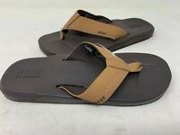 NEW! Reef Men's Slip On Flip Flops Brown/Tan 145A z