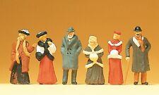 Preiser 12197 H0, Passanten in winterlicher Kleidung, 6 Figuren, handbemalt, Neu