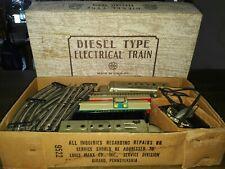 Antique Electric Train Set Louis Marx #9522 Diesel Type Remote Control TRAIN