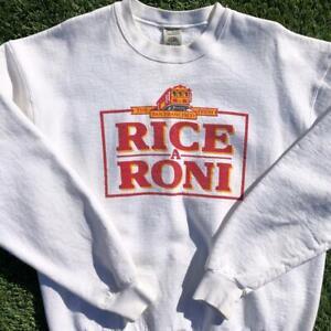 Rare VTG 80s/90s Rice A Roni San Francisco Food Promo Crewneck Sweat Shirt XL