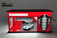 MC Hobby 1:64 Acrylic Led Light Diorama Showrooms Koenigsegg Finished