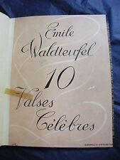Partition Emile Waldteufel 10 Valses célèbres Music Sheet