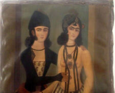 Magnificent Antique Islamic Qajar Oil Painting Lovers on Canvas 19 Century Nude