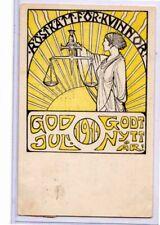 Swedish Woman Suffrage Postcard - New Year 1911 - Suffragette Suffragist