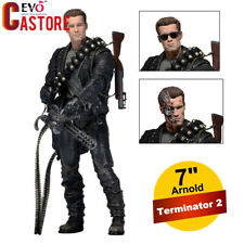 """NECA Terminator 2 Judgment Day T-800 Ultimate Deluxe Arnold 7"""" Action Figure Toy"""