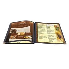 "30 Non-Toxic Menu Covers 8.5x11"" Black Triple Fold Book Style Cafe 3 Page 6 View"