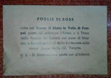 ASSOLUTA R@RIT@'-FOGLIE DI ROSE DEL ROSETO DI MARIA IN VALLE POMPEI*BUSTA PIENA