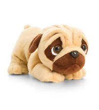 KEEL 26cm PUGSLEY POUNCING PUG DOG WITH SOUND PUPPY TOY CUTE - NEW PLUSH