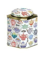 Vintage Teapot Corner Cut Dome Tea Caddy