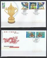 AFD1196) Australia 2003 Rugby World Cup 2001 Dragon Boat Racing FDC