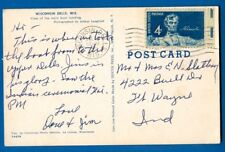 Stamp #1116, 4 Cent Abraham Lincoln On Wisconsin Dells, Wisconsin Postcard, 1959