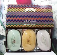 Missoni Perfumed Bath Soap Set Box. 3 Soaps 300 Grams Each