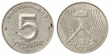 5 PFENNIG 1952 E GERMANIA GERMANY DEMOCRATIC REPUBLIC DDR #6804