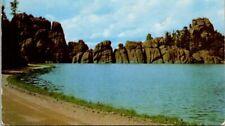 Custer Lake in Custer State Park Black Hills South Dakota Old Postcard B7