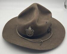 More details for vintage scout master's felt hat, saxon bukta