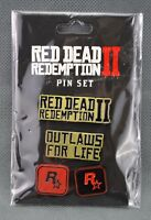 Red Dead Redemption II 4 Pc Pin Set Collectible Brand New Sealed Rockstar 2018