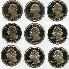 1990 - 1998 Washington Quarter PROOF Coin Set Collection - San Francisco - AN928