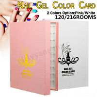 120/216 Tips Colour Chart Display Book For UV Gel Polish Nail Art Tool Manicure